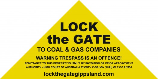 'Lock the Gate' sign