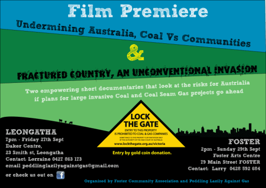 Coal and CSG Film poster
