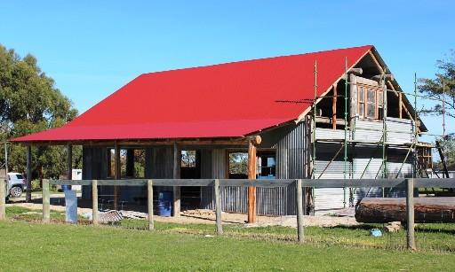 Beloka shed in progress