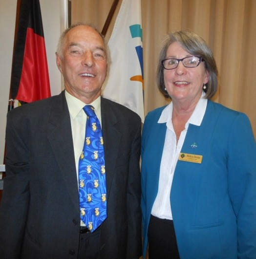 • South Gippsland Shire Council's newly elected mayor, Cr Bob Newton, and deputy mayor, Cr Mohya Davies.
