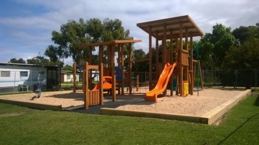 • New playgrounds have been popular additions to the council-run Yanakie and Long Jetty caravan parks.