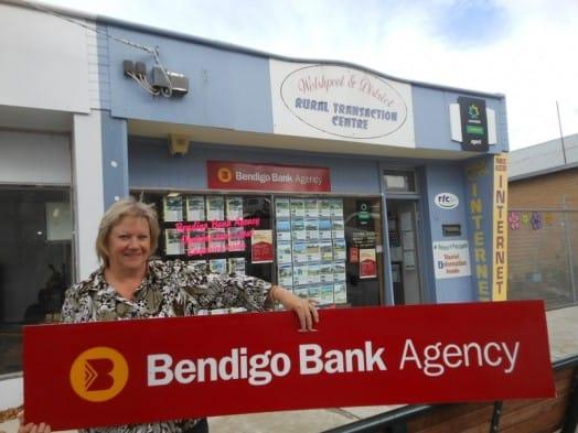 • Welshpool Rural Transaction Centre staff member Linda Razinger preparing for the opening of a Bendigo Bank agency at the RTC.