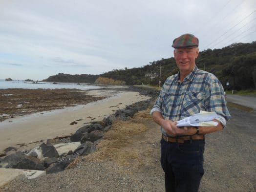 • Bill Bray, chair of the Walkerville Foreshore Committee of Management, on the Walkerville North foreshore, where improvements are in the pipeline.