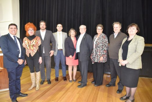 • South Gippsland Shire Councillors after the official declaration of the election results last Wednesday. Pictured (L to R) are Coastal-Promontory Ward councillors Ray Argento, Alyson Skinner and Jeremy Rich; Strzelecki Ward councillors Aaron Brown, Lorraine Brunt and Andrew McEwen; and Tarwin Valley Ward councillors Maxine Kiel, Don Hill and Meg Edwards.