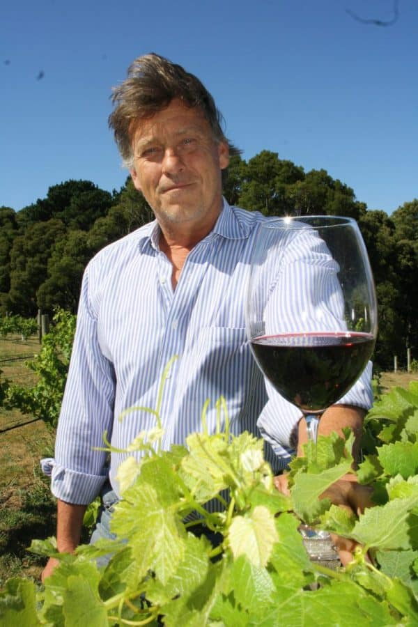 • Class act: restaurateur Chris Garns is ready to open his Foster winery to the public.